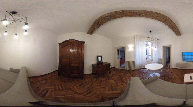 soggiorno Virtual Tour Appartamento Via Cavallotti Parma